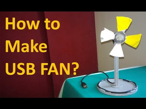 How to make USB FAN by using CD, Cd Box, Dc Motor