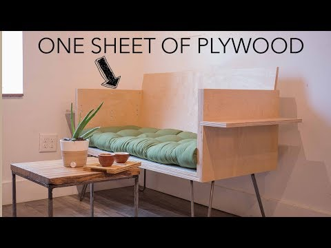 DIY Modern Sofa | How To With 1 Sheet Of Plywood