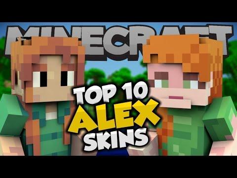 Top 10 Minecraft ALEX SKINS! - Best Minecraft Skins