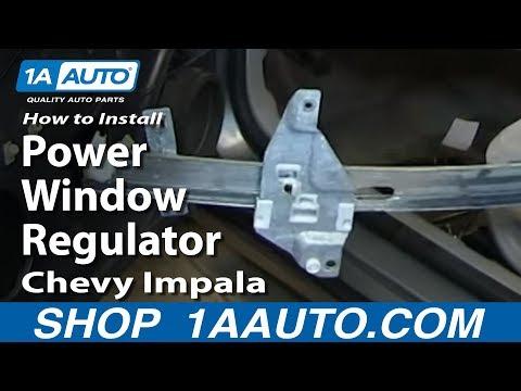 How To Install Replace Power Window Regulator 2006-12 Chevy Impala