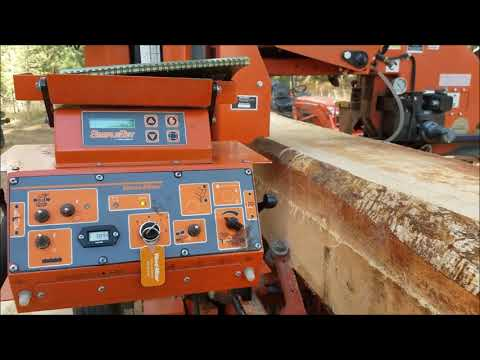 Milling a log into CANT's