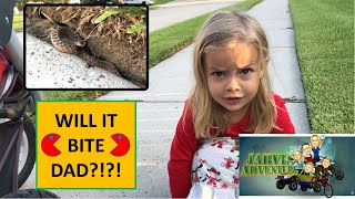 Download Dad and Lenna find a 🐍 snake on their walk! Will it bite dad?!?!?😲 Video