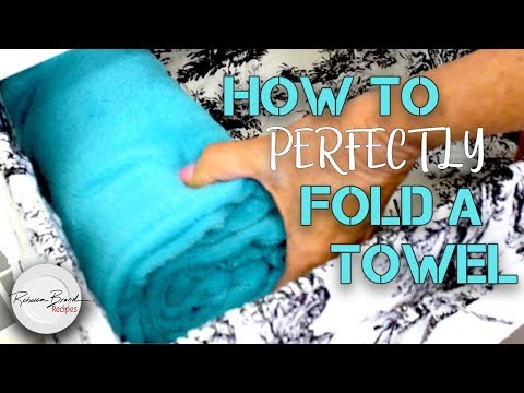How To Perfectly Fold A Towel | LIFE HACK
