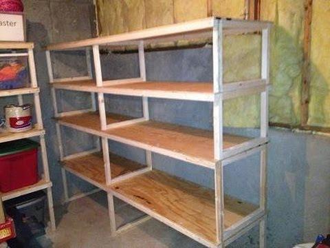 Quick, easy, cheap storage shelves
