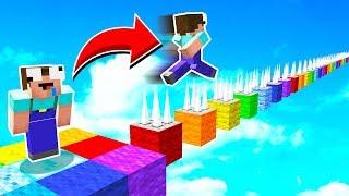 Dangerous Rainbow Minecraft Parkour!