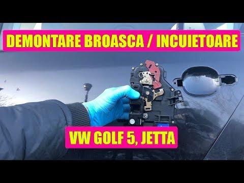Demontare broasca / incuietoare usa VW Golf Mk5, Jetta, Passat B6, Touran in 18 pasi