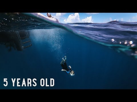 5 YR OLD FREE DIVES THE BLUE HOLE!! /// WEEK 105 : Great Blue Hole, Belize
