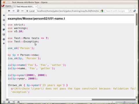 Moose testing type constraint