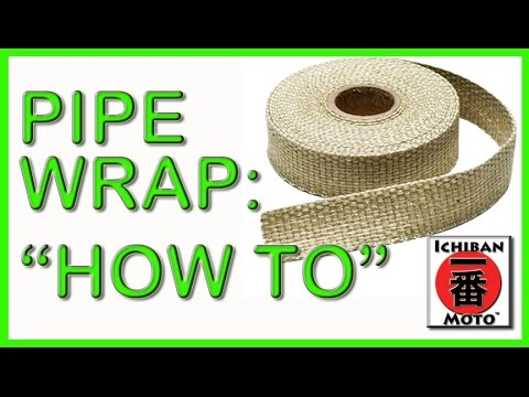 how to use fiberglass exhaust pipe wrap for an old school vintage motorcycle rat rod look