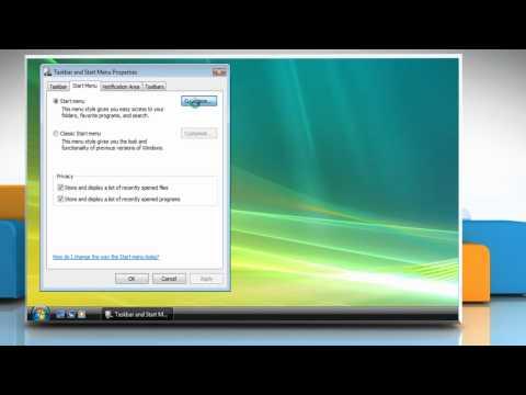 Windows® Vista: Change Start menu icon size