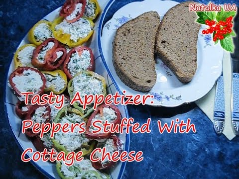 How To Cook Peppers Stuffed With Cottage Cheese Video Tutorial