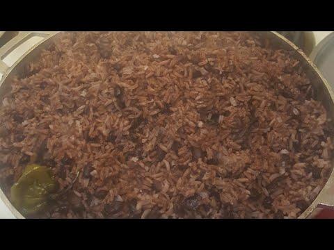How i make Haitian rice and beans ,,. Diri kole
