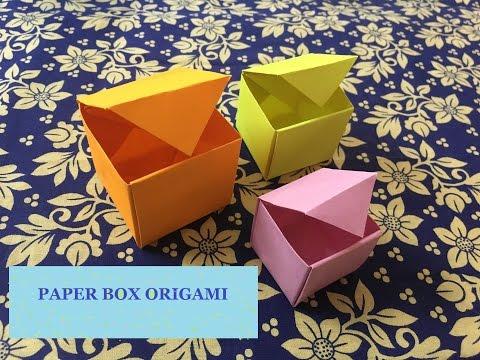 Paper Box Origami Tutorial -Paper Craft Ideas