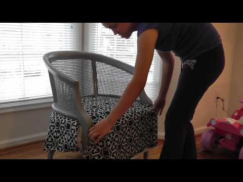 DIY: How To Refinish & Reupholster A Chair- Cane Chair Pt. 2