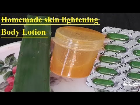 Homemade skin lightening Body Lotion.[winter special  ]Recipe - super easy & affordable