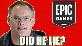 Did Tim Sweeney Lie About Sony's Epic Games Investment Deal?