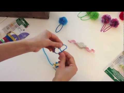 How to Make Pom Pom Hair Ties with Smashed Peas and Carrots