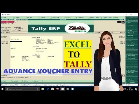 EXCEL TO TALLY - ADVANCE VOUCHER ENTRY☑️