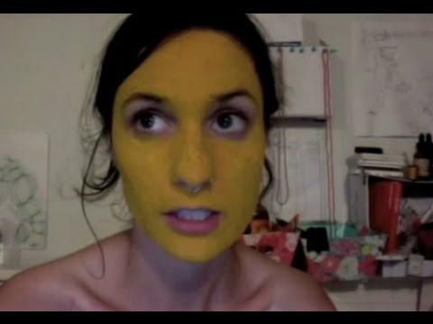 Turmeric face mask. Whoops.