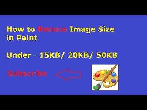 How to Reduce Image Size in MS Paint