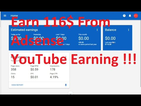 Adsense Earning YouTube Revenue of the Month !!!