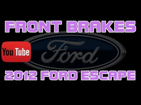 ⭐ 2012 Ford Escape - How To Replace The Front Brake Pads