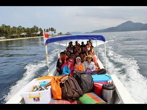 Enjoy..! Naik Boat Menuju Kawasan Mandeh Wisata Bahari Pulau Pagang - West Sumatera