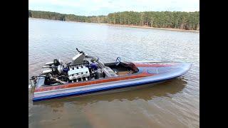 Twin Turbo Hemi Jet Boat Lake Test #2! Finnegan's Garage Ep.94