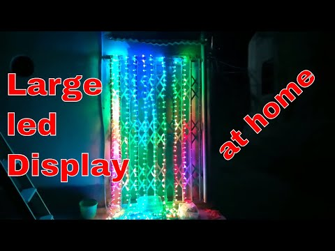 Large led display using pixel led demo effects-not for final