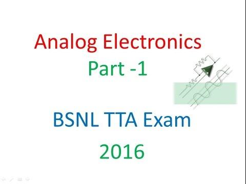Analog Electronics Part 1- Feedback  in amplifiers, Op-amp
