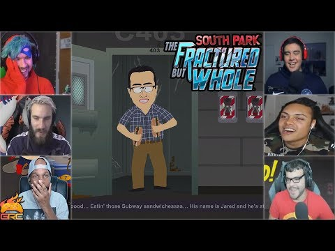Gamers Reactions to Jared From Subway Intro | South Park™: The Fractured But Whole