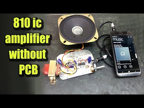 DIY Audio Amplifier with 810 IC without PCB | Hindi Electronics | ELECTRO INDIA