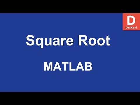 MATLAB Square Root Function