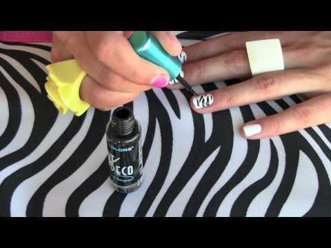 How To - Zebra (animal print) nail art | Kandee Johnson