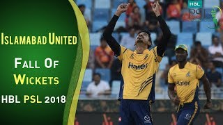 Islamabad United Fall Of Wickets | Peshawar Zalmi Vs Islamabad United | Match 4 | HBL PSL 2018 | PSL