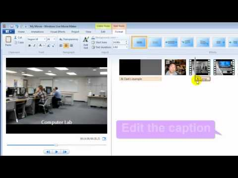 Windows Live Movie Maker: Edit, Title, Caption, Credits, Transitions, Effects, Save