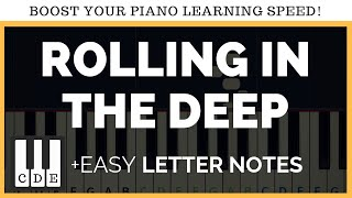 by easy letter notes rolling in the deep easy piano song letters adele