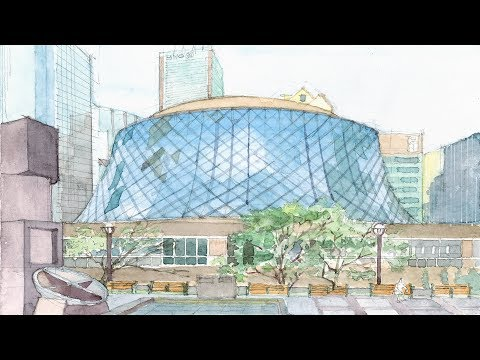 Watercolor study of the Roy Thomson Hall