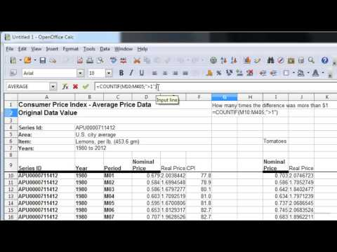 Investigating Real & Nominal Dollars Part 4 (Using CountIf)