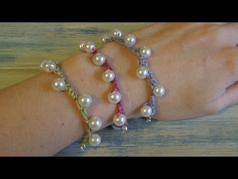 (crochet) How To - Crochet my Solomon Pearl Bracelet