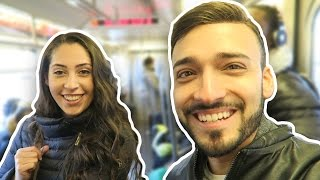 EMBARRASSING MY GIRLFRIEND ON THE TRAIN!
