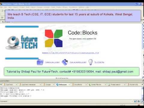 Using debug feature in codeblocks