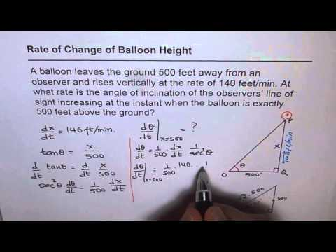04 Rate of Change of Angle of Sight Calculus Trigonometry Application