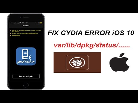 How to fix /var/lib/dpkg/status error iOS 10/11 (ALTERNATIVE WAY, without mTerminal)