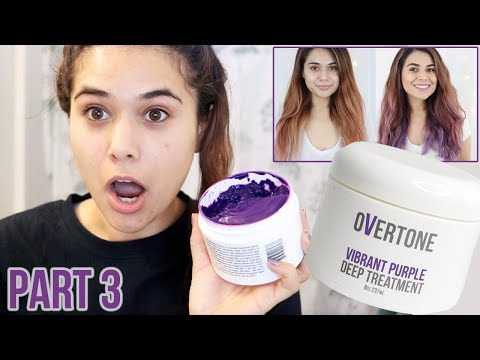 OVERTONE VIBRANT PURPLE REVIEW & DEMO   Hair Transformation Part 3
