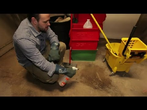 How Do I Clean Mildew on Concrete Floors? : Bathroom Cleaning & More