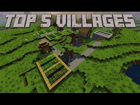 Top 5 Best Minecraft Village Seeds 1.9.4, 1.9, 1.8.9, 1.7.10