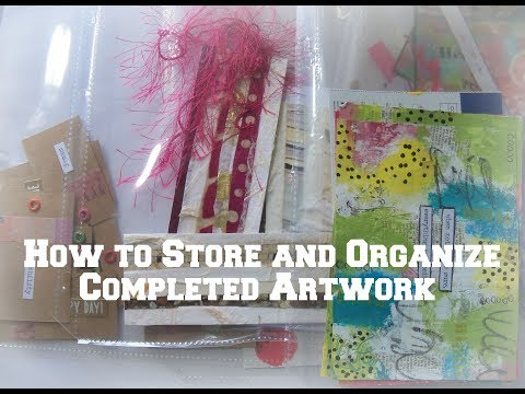 how to organize and store finished artwork/ Easy Storage ideas for art and crafts