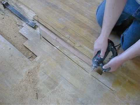 Hardwood Floor Repair - Remove & Replace Board by Service Doctor Northwest Indiana