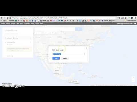 Renaming a Google Map Layer